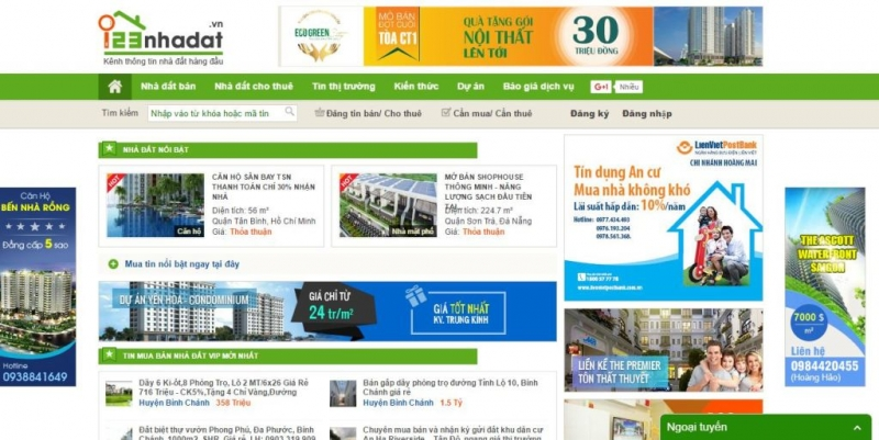 Website của 123nhadat.vn