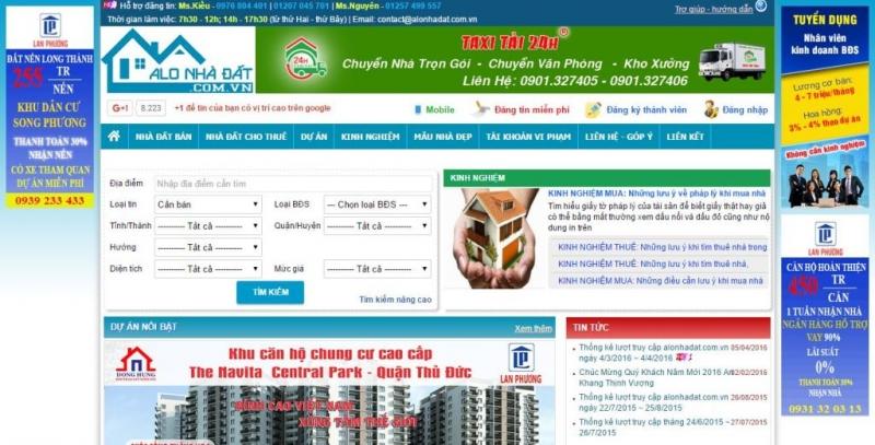 Trang web Alo Nhà Đất