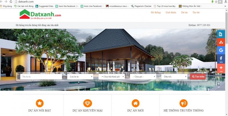 Website chính thức của Đất Xanh