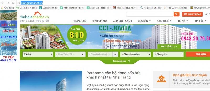 Website của dinhgianhadat.vn
