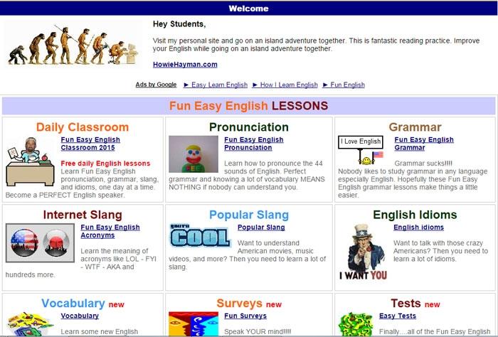 Giao diện của trang web đơn giản dễ sử dụng