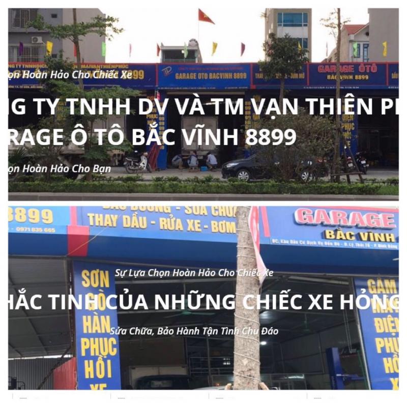 Garage ô tô Bắc Vĩnh 8899