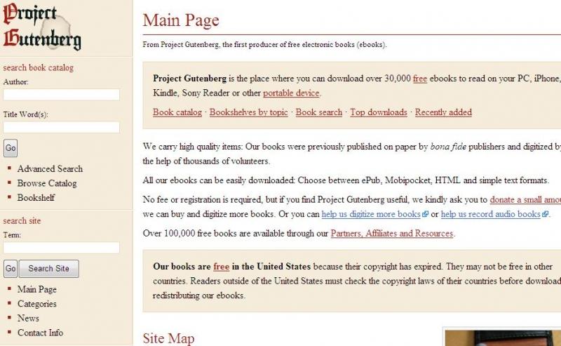 Website cung cấp nhiều bản eBooks tương thích trên các loại thiết bị khác nhau như iPhone, Kindle, PC...