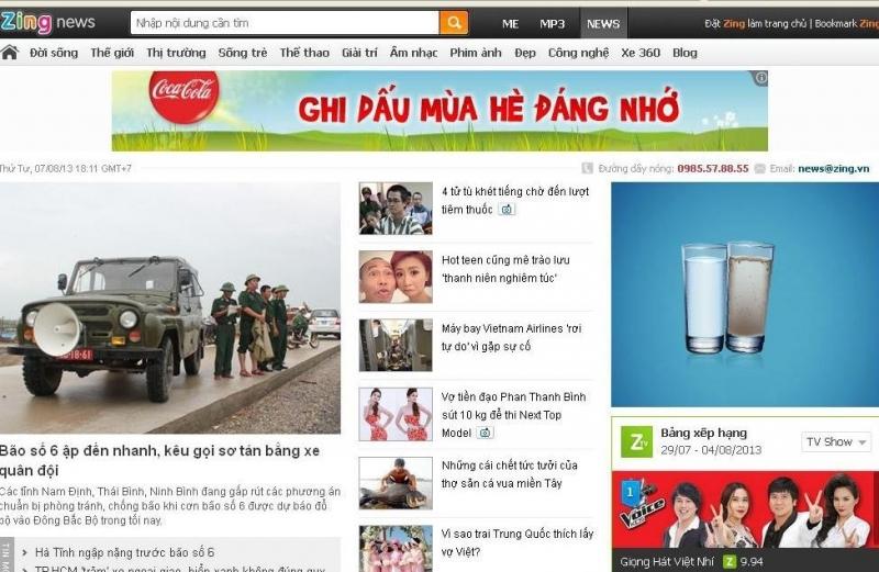 News.zing.vn được nhiều người biết đến như một cổng thông tin trực tuyến về lĩnh vực báo chí, thời sự