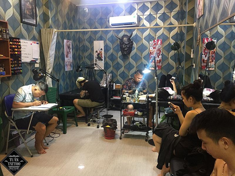Không gian làm việc của Tuấn Tattoo Studio