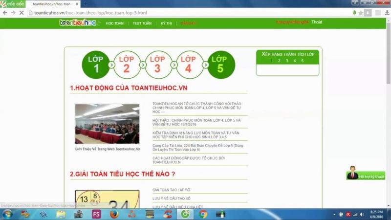 Trang web của Toán tiểu học