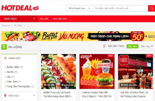 Trang web mang đến cho khách hàng cơ hội mua hàng giảm giá