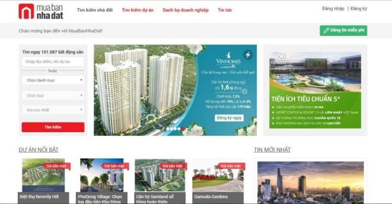 Trang web muabannhadat.com