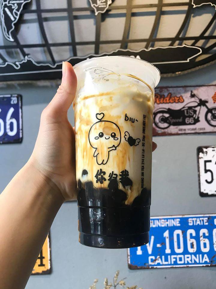 Sữa tươi trân châu đường đen Huangjin Tea