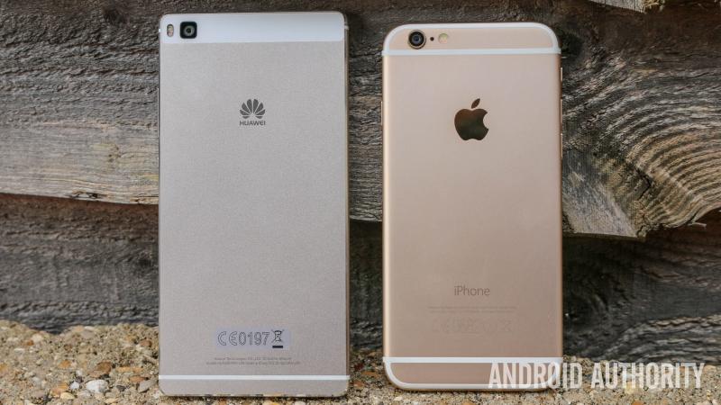 Huawei P8 không hề thua kém khi so sánh với Iphone 6