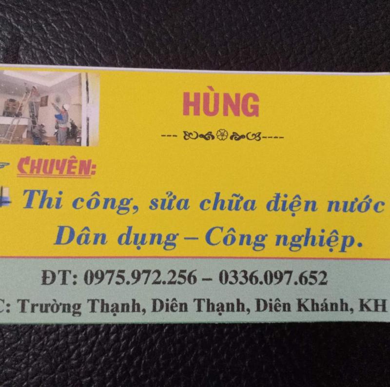 Hùng - Sữa chữa điện nước Diên Khánh