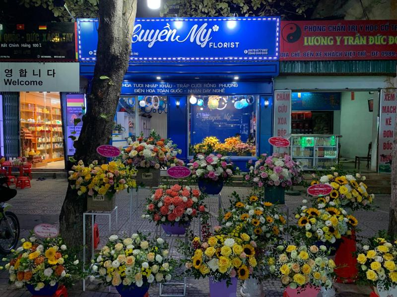 Tiệm hoa xinh đẹp nằm gần Bến xe Thành phố