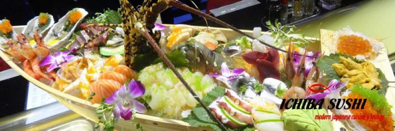 Một bữa tiệc sushi Nhật hoành tráng