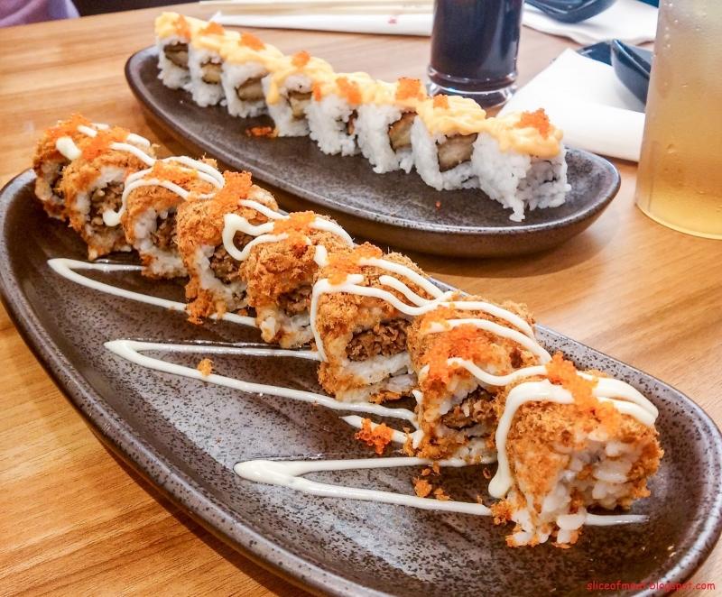 Sushi được bày trí sang trọng