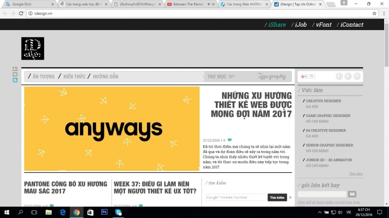 Đây là giao diện chính của website