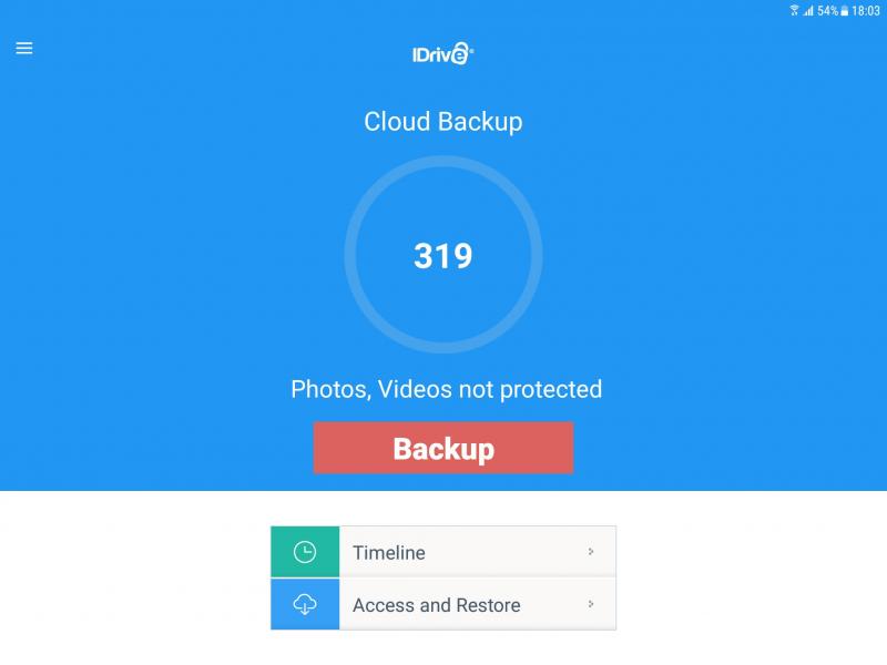 khả năng lưu trữ dữ liệu nhanh gọn với IDrive