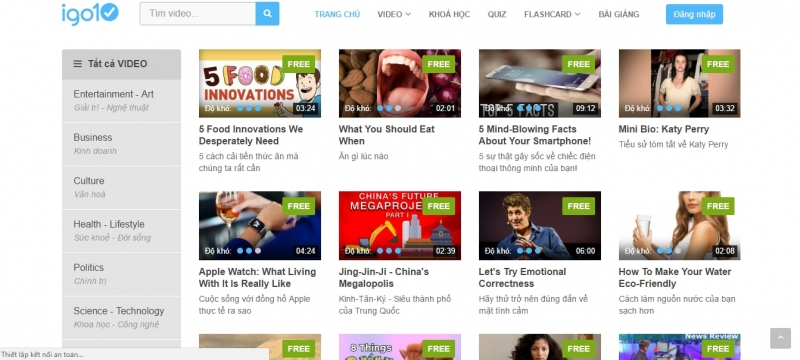 Các video rất thú vị của IGO10
