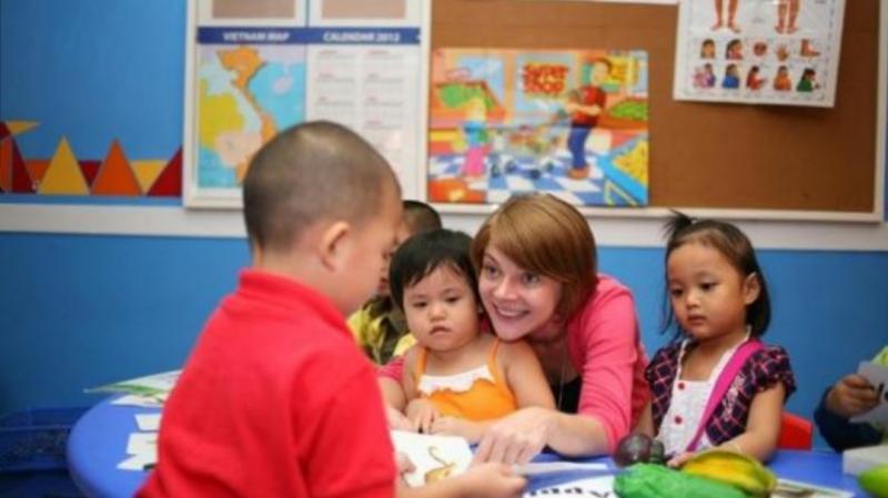 Một buổi học tại ILA với giáo viên bản xứ