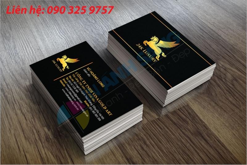 Card visit cao cấp chất liệu giấy Mỹ thuật