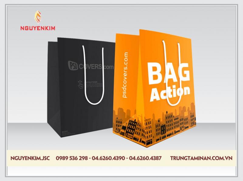 Thiết kế túi giấy chuyên nghiệp và miễn phí 100% theo yêu cầu từ khách hàng.