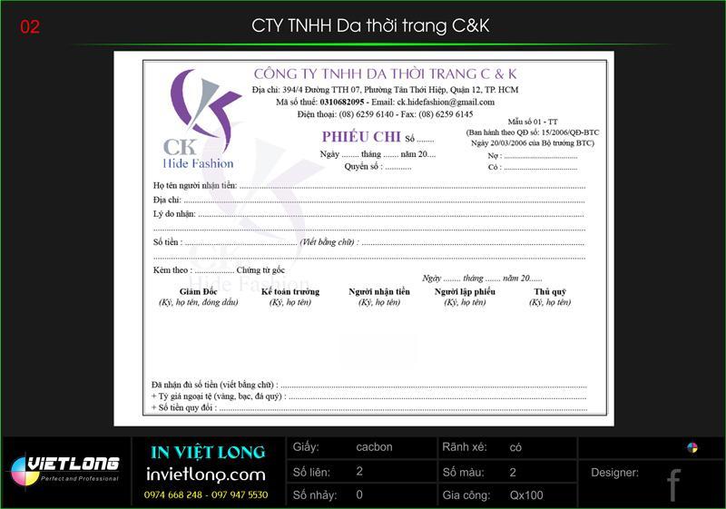 Công ty TNHH in Việt Long