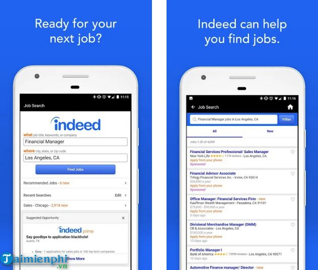 Ứng dụng Indeed Job Search