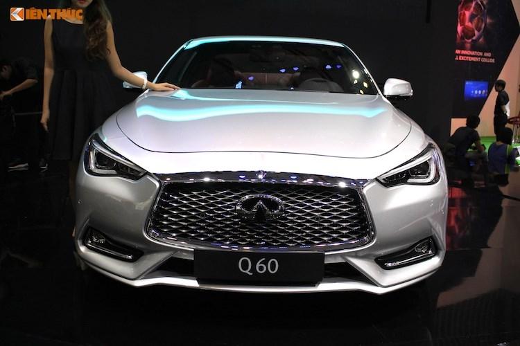 Hình ảnh phần đầu của Infiniti Q60 coupe 2017