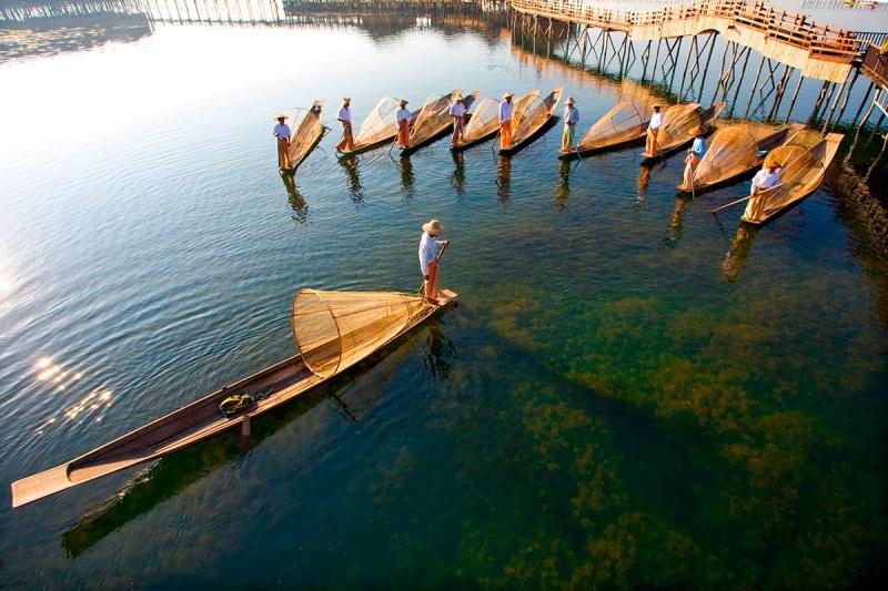 Vẻ đẹp của hồ Inle