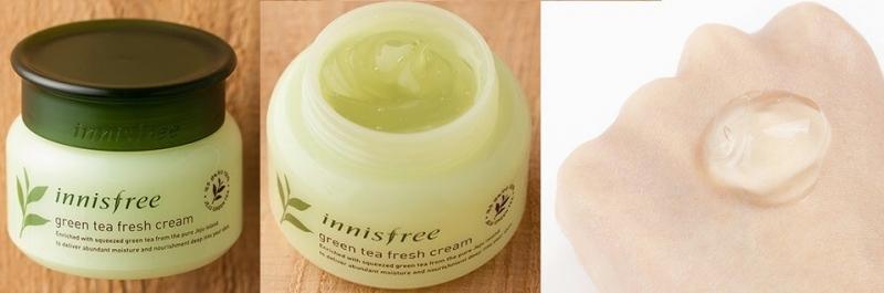 Innisfree green tea fresh cream