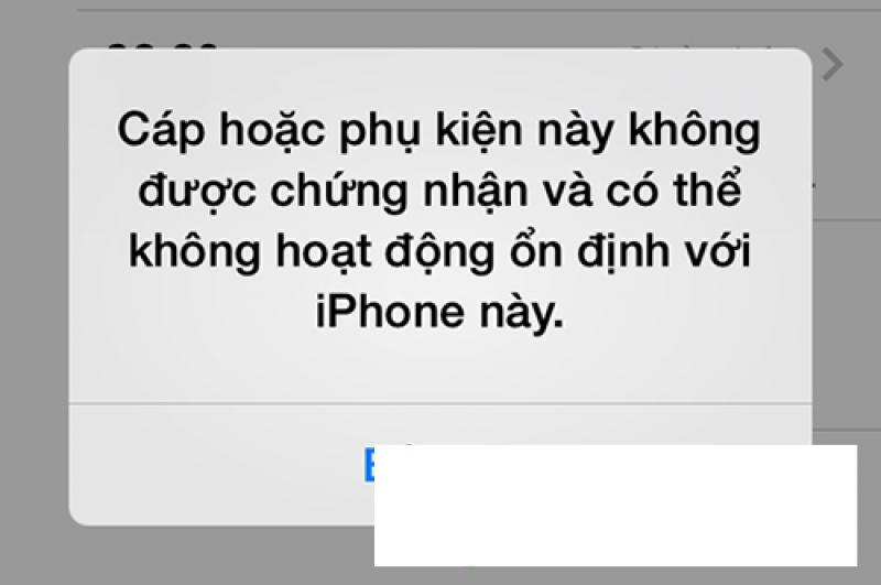 iPhone 5s không nhận USB