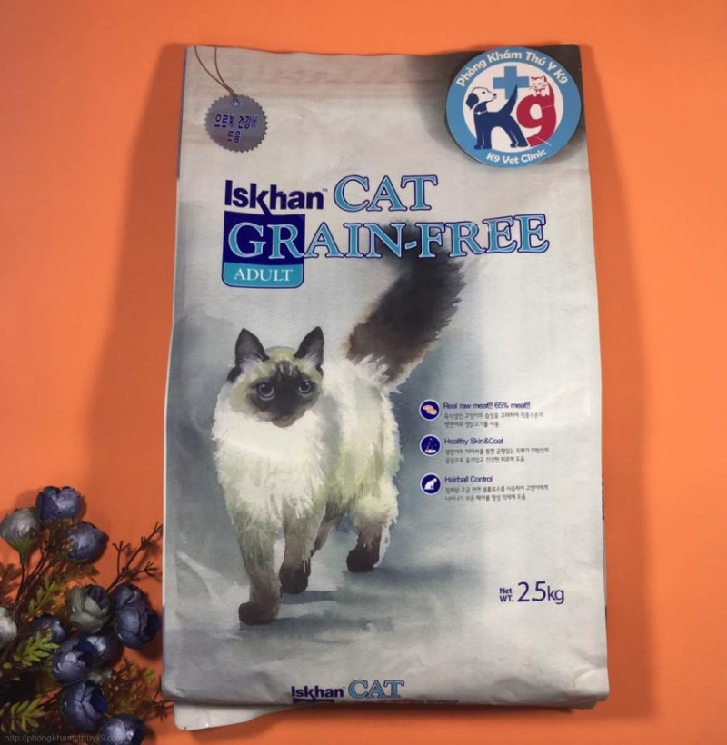 Thức ăn mèo Iskhan