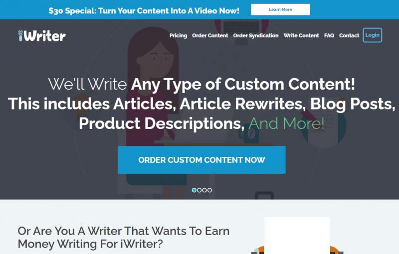 Website của Iwriter