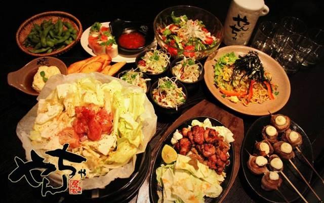 Bàn ăn tại nhà hàng Yancha Yaki Kim Mã