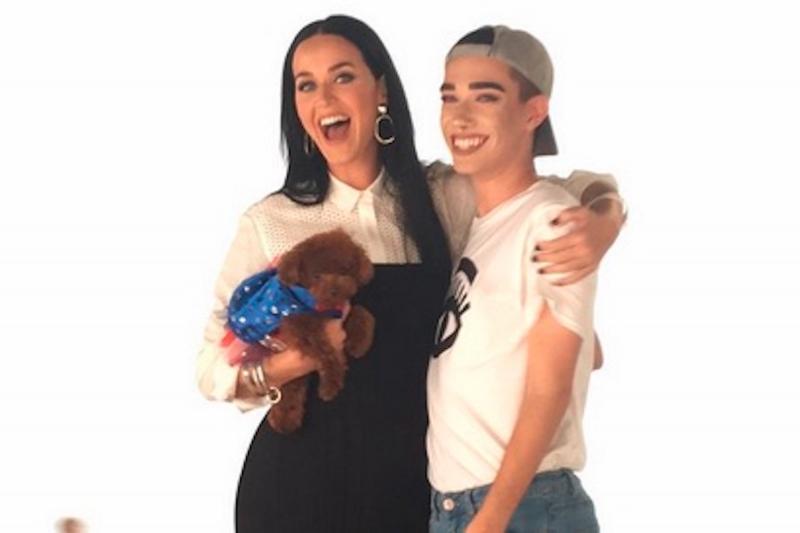 James đã từng có cơ hội làm việc với ngôi sao nổi tiếng Katy Perry - Nguồn: Sưu tầm