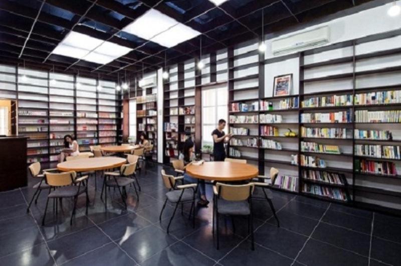 Không gian thư viện Japan Foundation mang đậm phong cách Nhật Bản