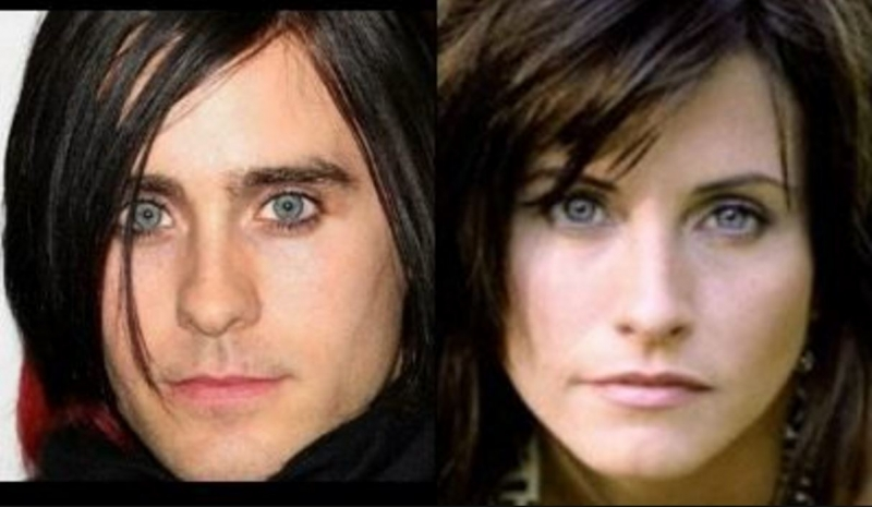 Jared Leto và Courteney Cox