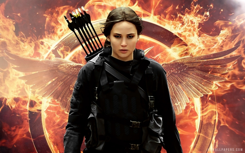 Jennifer Lawrence trong phim The Hunger Game