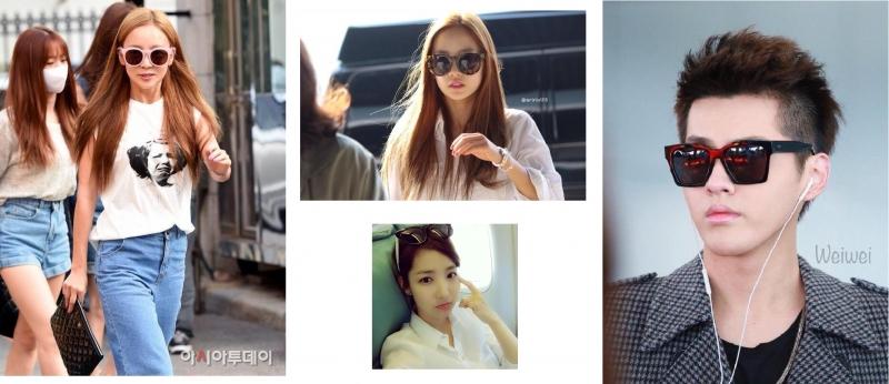 Các sao thời trang với kính mắt do Jessica thiết kế