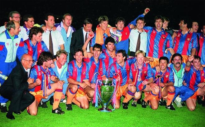 Johan Cruyff cùng Barcelona vô địch Champions League 1992