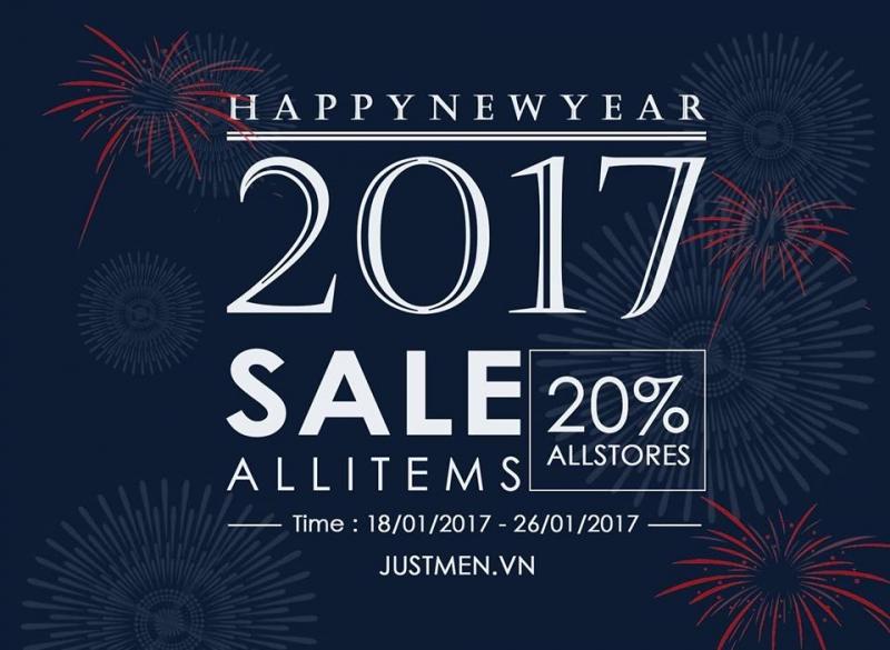 Justmen hiện đang khuyến mãi 20% trong dịp Tết 2017