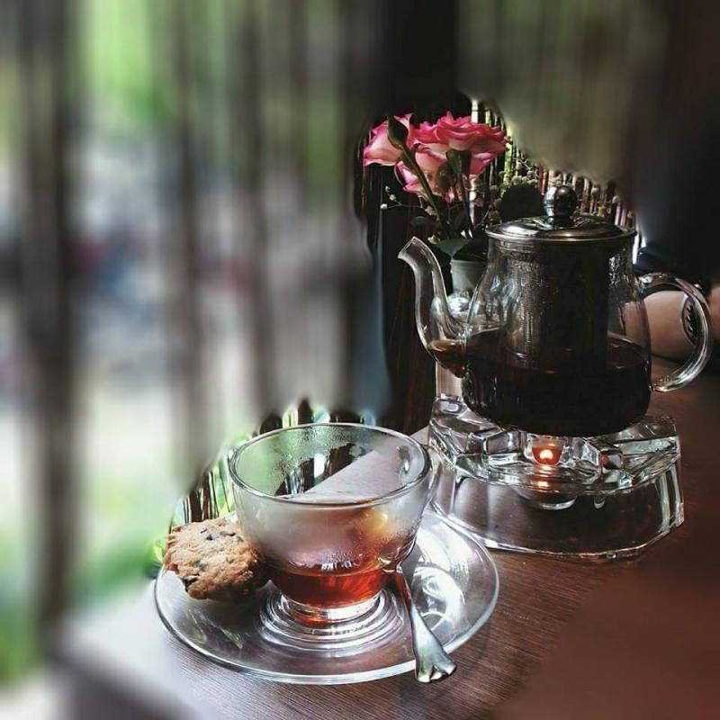 set trà lung linh tại Kaffeine