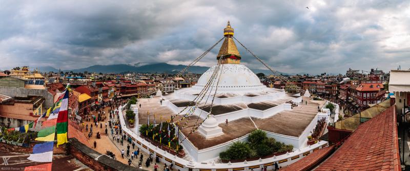 Thành phố Bouda Stupa là một trung tâm Phật giáo lớn ở Nepal