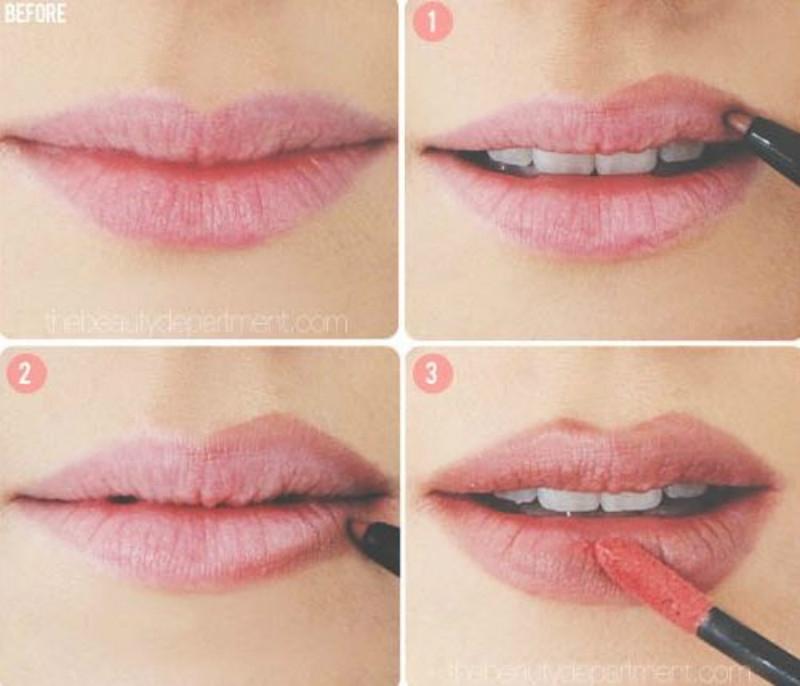 Kẻ viền môi để có đôi môi dày quyến rũ