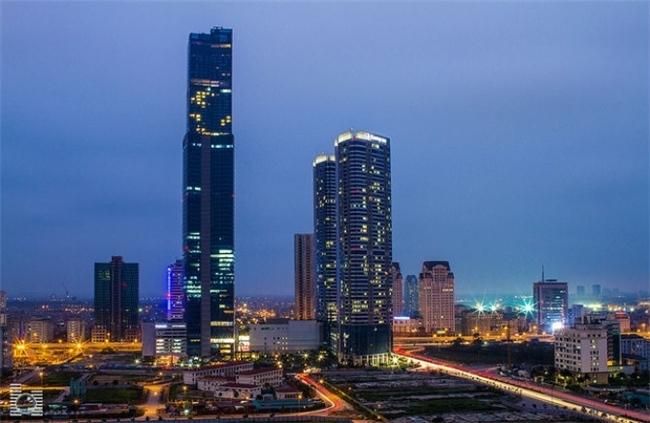Cảnh đêm ở Keangnam Hanoi Landmark Tower
