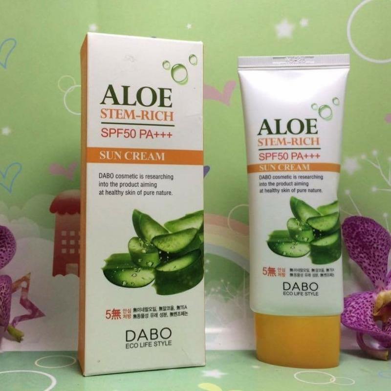 Kem chống nắng dưỡng da lô hội Dabo aloe stem-rich SPF50 pa