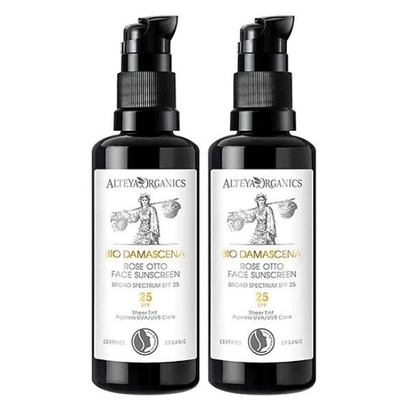 Kem Chống Nắng Hoa Hồng Hữu Cơ - Organic Sunscreen Rose Otto Face Cream Bio Damascena