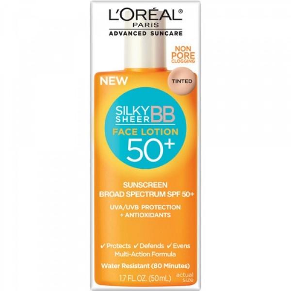 Kem chống nắng L'Oreal silky sheer BB face lotion 50+