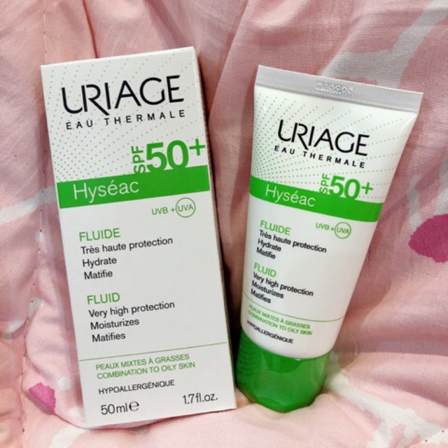 Kem chống nắng Uriage Hyseac Fluide SPF50+