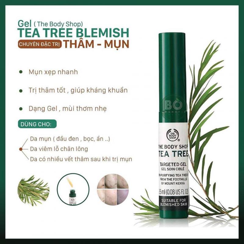 Kem đặc trị thâm mụn The Body Shop Tea Tree Blemish Gel