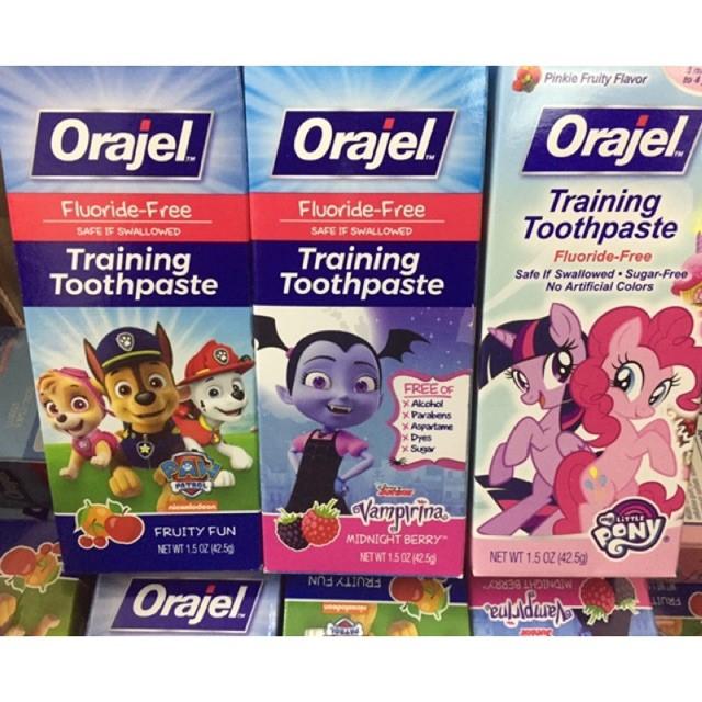Kem đánh răng Orajel Training Toothpaste (Mẫu mới)